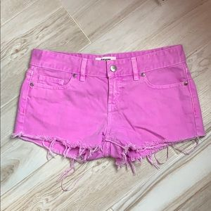 PINK Victoria's Secret Lilac Pink Frayed Shorts
